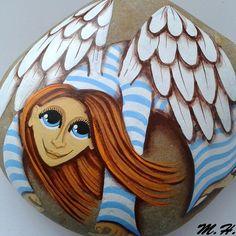 Andělka na kameni
