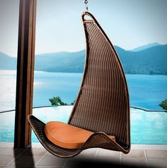 urban balance curved hanging chair Stunning Outdoor Opened Chairs architecture