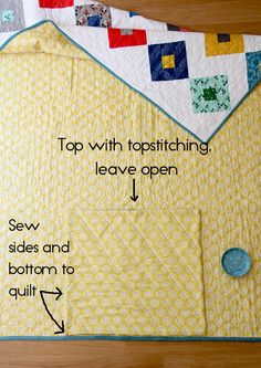 How to Make a Quilt into a Quillow | Cluck Cluck Sew For this tutorial I'm making my Lucky quilt into a quillow, and since my quilt is done, all I have to do is add a pillow cover/pocket to the back of the quilt.