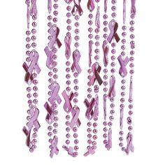 Pink Awareness Ribbon Beaded Necklaces - OrientalTrading.com
