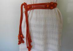 Vintage 1970's Belt/ Orange/ Macrame Belt/ by SundayGirlFinds, $22.00