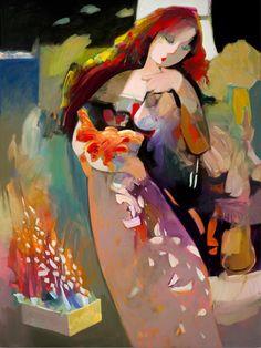 ABRISHAMI, Hessam Iranian born American  [b1951]_White Feathers