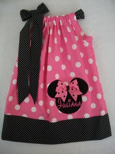 Minnie Mouse Pillowcase dress-baby toddler girls by amaritascloset