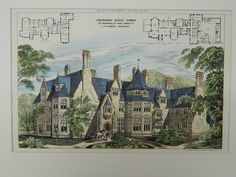 Greenhurst, Residence of Thos. Lambert, Ockley, Surrey, UK, 1874, Original Plan. J. P. St. Aubyn.