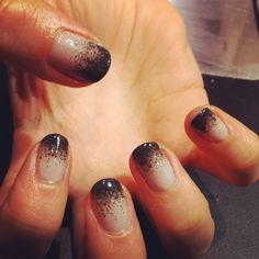 Black ombre nails by Wah Nails, London.