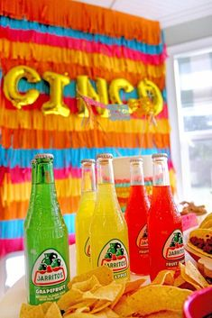 "Party Drinks from Cinco ""en"" Mayo 5th Birthday Fiesta | Kara's Party Ideas"