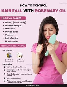 Hair Remedies rosemary oil for hair loss - Many say that use of rosemary oil can help in treating the problem of hair loss. But how to use rosemary oil for hair loss? Hair Remedies For Growth, Hair Loss Remedies, Thinning Hair Remedies, Rosemary Oil For Hair, Hair Fall Remedy, Oil For Hair Loss, Stop Hair Loss, Coconut Oil Hair Mask, Essential Oils For Hair