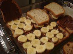 52 Sweet Treats: Banana Nutella Stuffed French Toast, dairy and gluten-free Gluten Free Grains, Gluten Free Sweets, Sugar Free Desserts, Just Desserts, Dairy Free, Sugar Free Breakfast, Gluten Free Recipes For Breakfast, Gluten Free Breakfasts, Paleo Recipes
