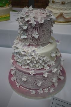sugar veil-- cheap lace cheat.. plain knox gelatin, and mixed 1 packet with 1/2 cup sugar,  1 cup boiling water, then added enough white icing color to color it (abt 10 drops). Then took a dropper and filled my lace mold, and took it out the next day. It's perfect.