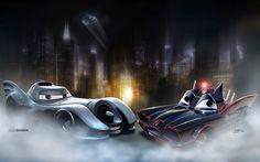 Pixar Cars [as the Batcar & Batmobile] (Drawing by DanyBoz Disney Pixar Cars, Disney Pictures, Cool Pictures, Im Batman, S Car, Car Images, Vintage Comics, Cool Artwork, Amazing Artwork