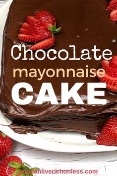 This Old Fashioned Chocolate Mayonnaise Cake Recipe is Grandma approved. - This Old Fashioned Chocolate Mayonnaise Cake Recipe is Grandma approved. Wouldn't you love a big s - Buttermilk Chocolate Cake, Ultimate Chocolate Cake, Chocolate Mayonnaise Cake, Best Chocolate Desserts, Köstliche Desserts, Delicious Desserts, Cake Chocolate, Yummy Treats, Crazy Cakes