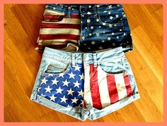 Stars & Stripes Front Shorts by Flowerchild & Co on Etsy, $16.99