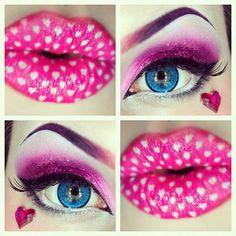 Lip and eye by makeup #beauty #diy eye shadow, sexy lips