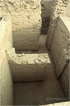 Looking down inside two rooms, DK-G area, near chief's house History Books, Art History, Ancient Indian History, Harappan, Mohenjo Daro, Indus Valley Civilization, Indian Architecture, Timeline Covers, Ancient Civilizations