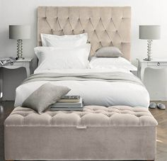 Bedroom Modern Bedroom Bench Design Feats Narrow Nightstands Also Captivating Tufted Headboard Idea Elegant Tufted Headboard for Stunning Bedding Set