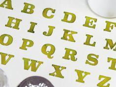 Tipografía en Acuarela