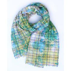 Victoria Cotton 80x16 Green  by Valentine Viannay