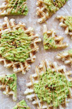 Maple-Tahini Avocado Waffles Vegan Gluten-Free