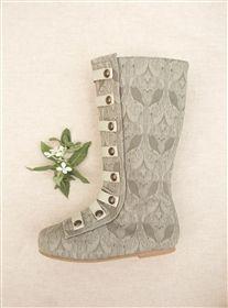 Joyfolie - Leighton Military-Inspired Boots in Dove