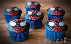 Spiderman Cupcakes - Cupcakes de Hombre Araña