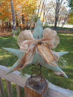 FOLK Art PrimiTive ChrisTmas Holiday WinTer STAR Tree Table Topper DecoraTion #PrimitiveLook #MelissaHarmon