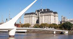 A Ponte da Mulher, em Puerto Madero, é um dos pontos famosos da cidade