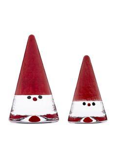 Kosta Boda Set of Two Santas