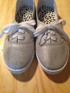 Cascada Bella Designs Women's Silver Glitter Mix Plimsolls (White Laces) · Cascada Bella Designs · Online Store Powered by Storenvy