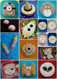 14 Best creative sandwich ideas for kids from Eats Amazing UK - add a cute surprise to their lunch box! #ad #LunchboxCreations