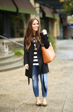the perfect black trench coat.