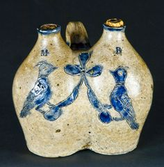 $ 24,725  Early Manhattan, NY or New Haven, CT Stoneware Gemel (Double Jug)10/31/2009