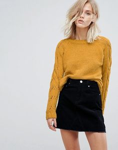 Only   Only Cable Knit Sleeve Jumper