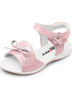 Snoffy Kids | Milah | Girls Sandals Sweet pale pink leather girls sandals from Snoffy.