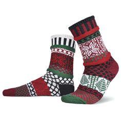 Raspberry Adult Crew Socks made of recycled cotton by Marianne Makerlin Solmate Socks, Crew Socks, Odd Socks, Matching Socks, Recycled Yarn, Recycled Materials, Designer Socks, Fashion Socks, Men's Fashion