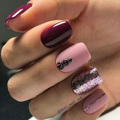 34 Wedding Nail Art Designs You Will Like These trendy Nails ideas would gain you amazing compliments. Check out our gallery for more ideas these are trendy this year. Fancy Nails, Love Nails, Pink Nails, Pretty Nails, Style Nails, Matte Pink, Shellac Nails, Nail Polish, Nail Manicure