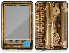 Typewriter ereader cover.