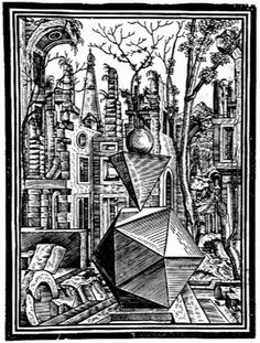 Tenth of eleven woodcut illustrations from Stoer's 'Geometria...'.