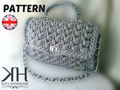 "Crochet pattern ""Chan-Elle"" bags by ""Katy Handmade"" English"