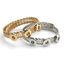 MUZHE Punk Open Striped Cuff Arm Bracelet Gold for Girl Party Jewelry