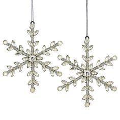 Xmas Ornaments Rhinestones Beads SnowFlake Decorations For Christmas Set of 2 ShalinIndia http://www.amazon.com/dp/B009TM4WV8/ref=cm_sw_r_pi_dp_tJzKtb07Y5F0KYG3