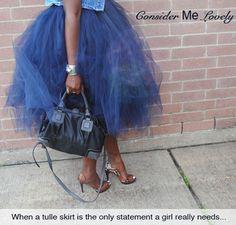 DIY no sew tulle skirt