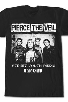 Street Youth Rising Tee from The only official Pierce The Veil Merch Store. T-shirts, Sweatshirts, Hoodies, Bracelets, Stickers, Buttons and more!