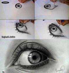 Drawing Eyes MFA - Realistic Drawings - Eyes - Pencil and Graphite - Fabriano Paper Realistic Eye Drawing, Drawing Eyes, Painting & Drawing, Pencil Art, Pencil Drawings, Graphite Drawings, Love Drawings, Art Drawings, Drawing Projects