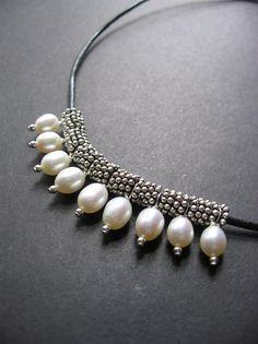 Жемчужное ожерелье. Кожа Жемчужное ожерелье с SimpleElementsDesign