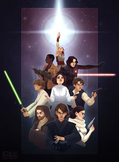 The Force Around Us by verauko I love that Leia's weapon is her passion/sass/just done with your crap in this picture.