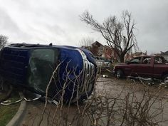 Vehicles are seen flipped over and damaged after a massive tornado hit the Rowlett, Texas area on Dec. Most of the deaths from were reportedly related to vehicles hit by the tornado . Rowlett Texas, Tornado Damage, Loss Of Loved One, Tornados, The Past, World, Contents, December, Change