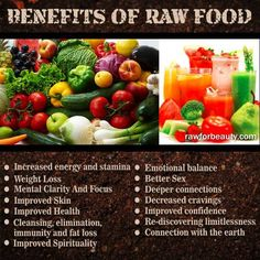 The Best Ways to Cook Veggies and Boost Nutrition You will lose a TON of weight going on a raw food diet. Raws food helped to improve my sleep. I don& suffer from bloating or constipation anymore. Raw Vegan Recipes, Healthy Recipes, Paleo, Vegan Raw, Vegan Foods, Vegan Meals, Healthy Facts, Fit Foods, Healthy Herbs
