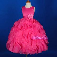 Details about NAVY/FUCHSIA HOT PINK WEDDING PICK UP FLOWER GIRL ...