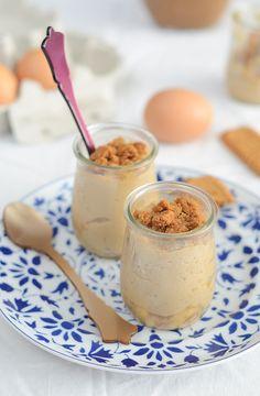 ¡Qué cosa tan dulce!: Natillas de galletas speculoos con plátano caramelizado