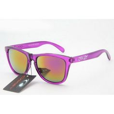 4a922d395d  12.99 Fake Oakley Frogskins Sunglasses Clear Purple Frame Pink Orange  Iridium Store Deals www.racal.org